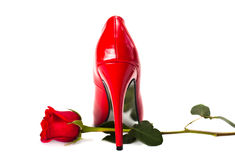 Red heels Stock Images