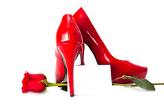Red heels Royalty Free Stock Photos