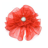 Red heir bow isolated on white Royalty Free Stock Image