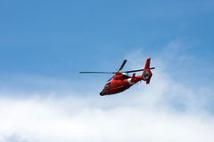 Red Helicopter Royalty Free Stock Images