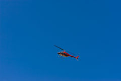 Red Helicopter Stock Photography