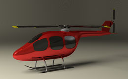 Red helicopter on gray Stock Image