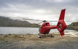 Red Helicopter Stock Images