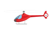Red helicopter isolated on white Stock Images