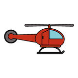 Red helicopter transport fly image Stock Image