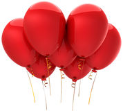 Red helium balloons (Hi-Res) Stock Image