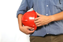 Red helmet Royalty Free Stock Photo