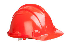 Red helmet isolated Stock Photo