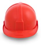 Red helmet isolated Stock Image