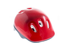 Red helmet for kid Stock Images