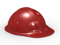 Red helmet on white background Stock Photography