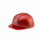 Red helmet for workers and builders Stock Images