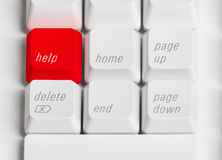 Red Help Button. Computer Keyboard with red help button royalty free stock photography