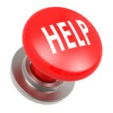 Red help button Stock Image