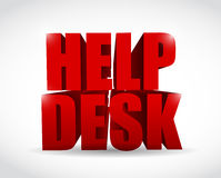 Red help desk sign illustration design Stock Image