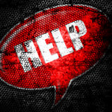 Red help grunge background textured Royalty Free Stock Images