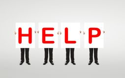 Red help symbol Stock Photo
