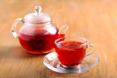 Red herbal and fruit tea Royalty Free Stock Photography
