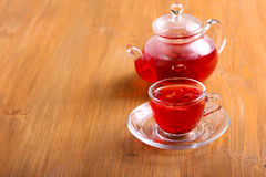 Red herbal and fruit tea Royalty Free Stock Photos