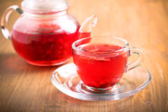 Red herbal and fruit tea Stock Photography