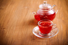 Red herbal and fruit tea Stock Photos