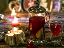 Red herbal and fruit tea Royalty Free Stock Image