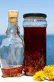 Red Herbal Oil Stock Photography