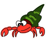 Red hermit crab Stock Photos