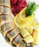 Red Herring with Lemon Stock Image
