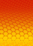 Red hexagon. Hexagon pattern Royalty Free Stock Image