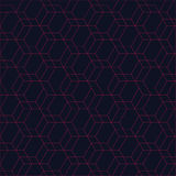 Red hexagon background Royalty Free Stock Image