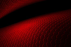 Red hexagon background and texture. Red hexagon background with real texture. perspective design. 3d illustration Royalty Free Stock Images
