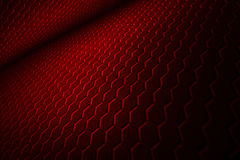 Red hexagon background and texture. Red hexagon background with real texture. perspective design. 3d illustration Royalty Free Stock Image