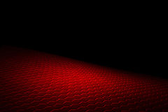 Red hexagon background and texture. Red hexagon background with real texture. perspective design. 3d illustration Royalty Free Stock Photography