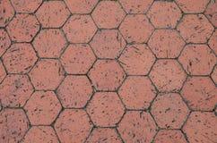 Red hexagon terracotta tiles Stock Photos