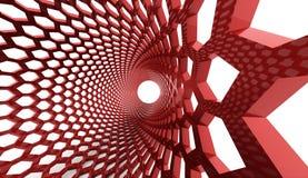 Red hexagonal abstract Stock Photos