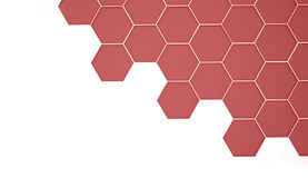 Red hexagonal background rendered Royalty Free Stock Photo