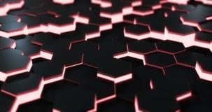 Red Hexagonal Floor Loop stock video