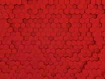 Red hexagons abstract background . 3d rendering royalty free illustration