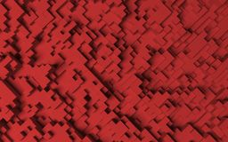 Red hexagons background.  Royalty Free Stock Photo