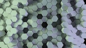 Red hexagons background.  Stock Photos