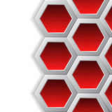 Red hexagons brochure background Royalty Free Stock Photography