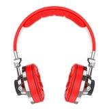 Red Hi-Fi professional headphones Stock Photos
