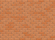 Red hi-res brick wall pattern Royalty Free Stock Images