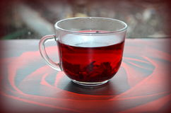 Red Hibiscus tea. Anti-aging effect Royalty Free Stock Photos
