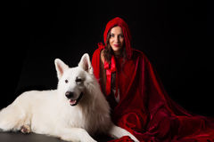 Red Hiding Hood concept Royalty Free Stock Images