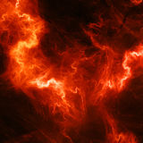 Red high energy lightening Stock Photography