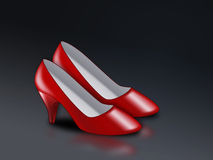 Red high heel ladies shoes Stock Photography