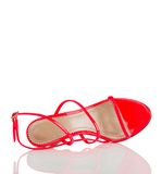 Red high heel shoe Stock Photo