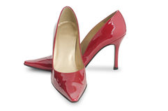 Red high heel shoe Stock Images